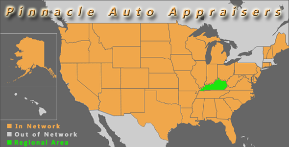 map kentucky pinnacle auto appraiser appraisal dimished value inspection